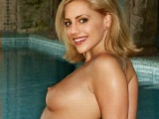 Celeb chick Brittany Murphy baring her skin only on this site