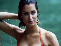 Tons of sexy photos of Yasmeen Ghauri in different swimsuits