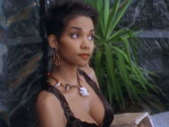 Hot assed celebrity Halle Berry exposing nice cleavage on film
