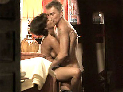 Beautiful Angelina Jolie in a steamy bed scene with her co star