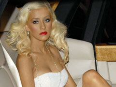 Hot Christina Aguilera showing off her enlarged luscious boobies