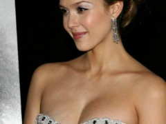 Pretty celeb Jessica Alba will knock you out in her sexy dresses